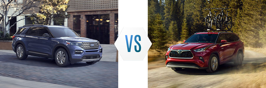 2020 Ford Explorer Hybrid vs Toyota Highlander Hybrid