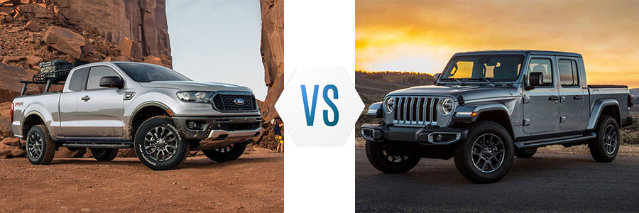 2020 Ford Ranger vs Jeep Gladiator